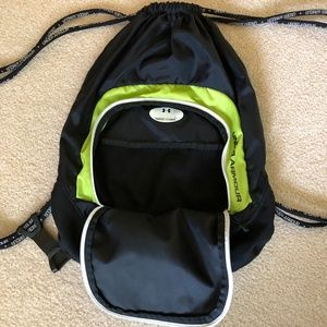 Under Armour Bags - Under Armour Lime Green & Black Drawstring bag